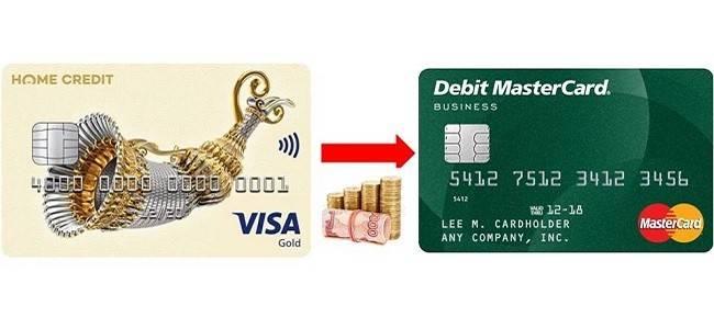 Можно ли снять наличные с карты хоум кредит «свобода»
