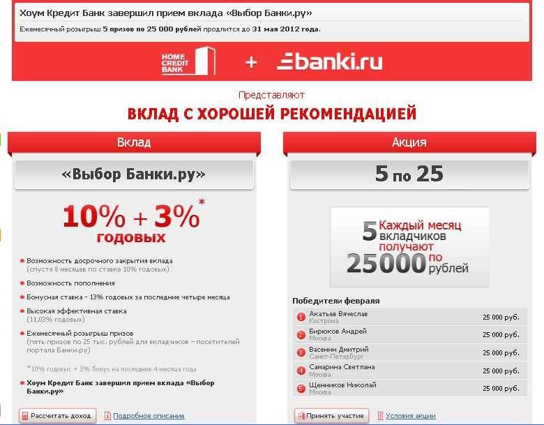 Потребительский кредит в хоум кредит банке без справок о доходах и поручителей