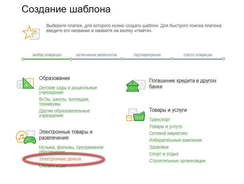 Как перевести деньги на яндекс кошелек через сбербанк онлайн?