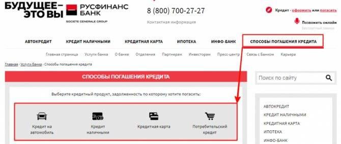 Как оплатить кредит русфинанс банка без комиссии - puzlfinance.ru