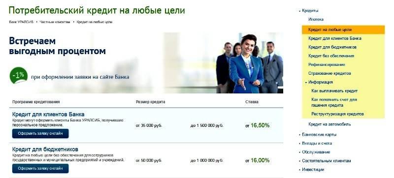 Кредитный калькулятор банка уралсиба на 2021-2022 год